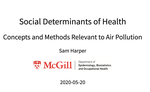 Social Determinants of Health--Concepts and Methods Relevant to Air Pollution